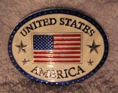 United States America Belt Buckle