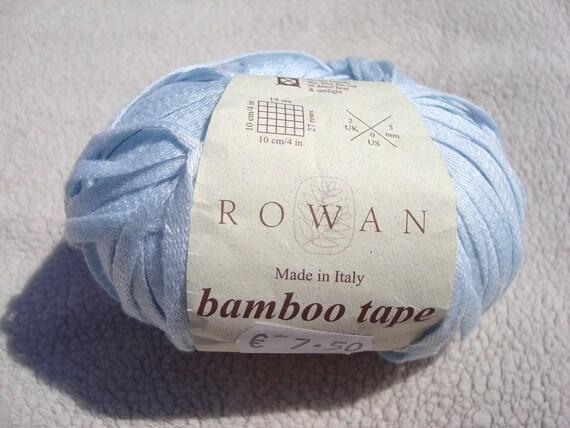 Rowan Yarn Bamboo Tape Chalk Blue 50g DESTASH YARN