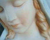 Vintage Virgin Mary Ceramic Pastel Planter