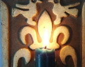 Vintage Reserved for Jeff Mexican Style Clay Ceramic Wall Candle Holder