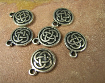 6 Silver Tierracast Celtic Knot Charms