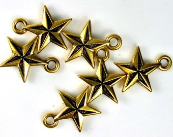 6 Gold Tierracast Nautical charms