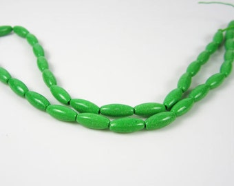 Green Magnesite Rice Beads