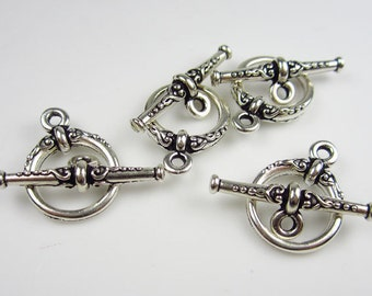4 Silver Tierracast Heirloom Toggle sets