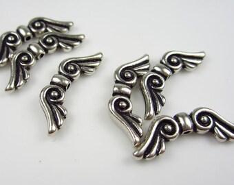 20 Silver TierraCast Angel Wings