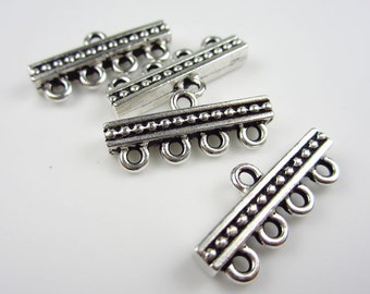 6 Tierracast Silver  4 to 1 Connector Bars