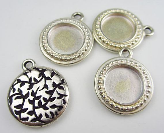 4 Silver Tierracast Round Picture Frames