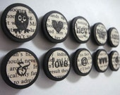 Vintage Magnets - Set of 10