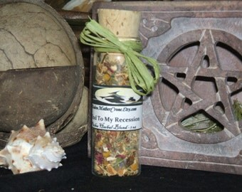Recession Herbal Blend Wicca Pagan Spirituality Religion Ceremonies Hoodoo Metaphysical MaidenMotherCrone