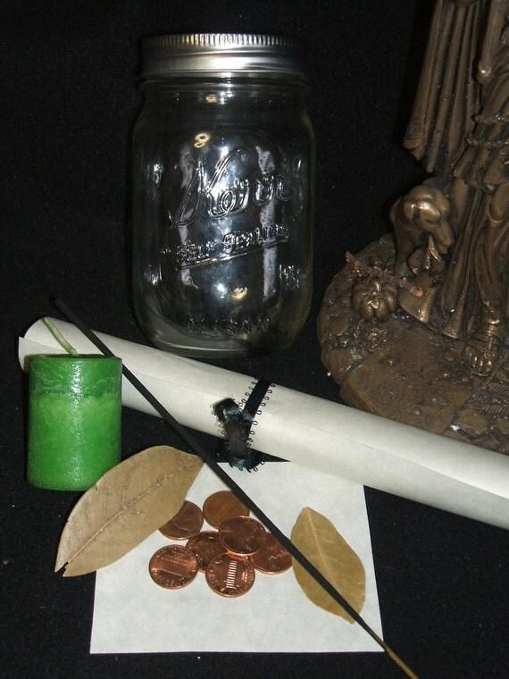 Cha Chin Witch Jar kit Wicca Pagan Spirituality Religion Ceremonies Hoodoo Metaphysical MaidenMotherCrone