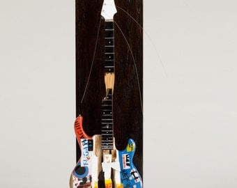 Flea Smashed Miniature Electric Bass Sculpture