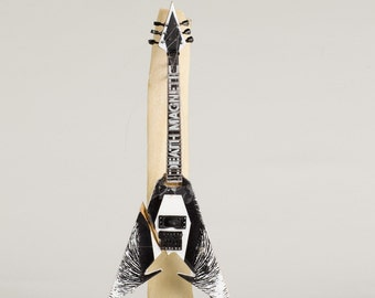 Kirk Hammett Smashed Miniature Electric Guitar Sculpture