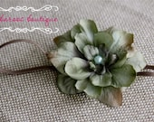 Vintage Newborn Headband, Baby headband, turquoise green flower headband, small flower headband
