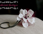 vintage newborn headband, baby headband, small white flower headband, infant headband, photo prop