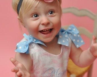 Pink flower Headband, Baby headband, Newborn headband, infant headband