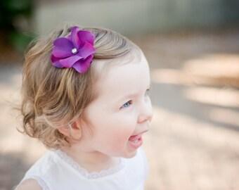 Flower Hair Clip, Purple Flower Hair Clip