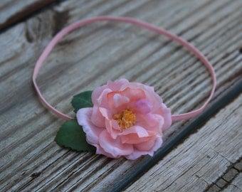 Newborn Small flower headband,  skinny elastic headband, Photography props,