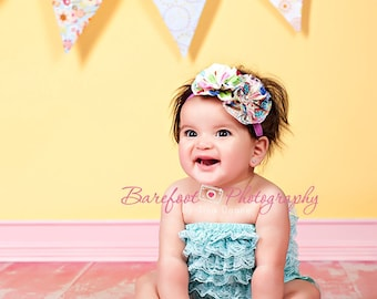 fabric headband, baby headband, birthday headband, adult headband