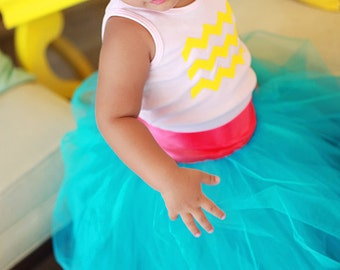 tutu, Flower Girl Dress, Birthday tutu, Blue tutu, Sewn Tutus, wedding