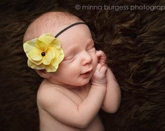 small yellow flower headband, baby headband, infant headband, toddler headband