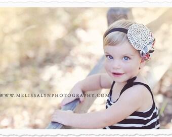 White Black and Red headband, Trendy Chic Headband, Baby headband, fabric headband