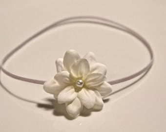 small white flower headband for newborn, baby headbands, infant headband, toddler headband, teen headbands, adult hair accessories