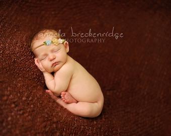 baby headband, vintage Flower Headband, newborn headband, photography prop, vintage inspired