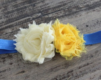 Baby Headbands, Newborn headband, yellow headband, blue headband, girls headband, birthday girl headband, baby headband