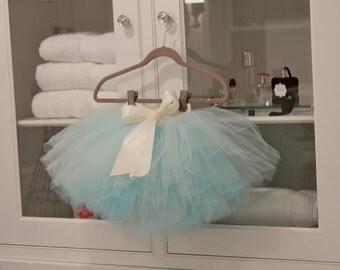 baby tutu, 1st birthday tutu, tutus chic, sky blue tutu, infant tutu, baby blue tutu, light blue tutu, ivory tutu