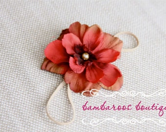 Newborn Headband, Baby headband, small flower headband, photography prop