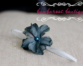 Turquoise baby headbands, newborn headbands, small flower headband, infant headband, toddler headband, photo prop