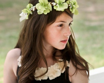 Flower Girl Hair Wreath, Flower girl hair accessories, hair wreath, wedding wreath, bridal hair piece