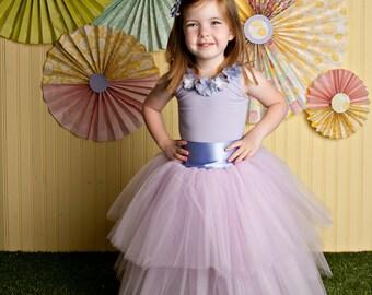 flower girl dress, tutu skirt for girls, flower girl dress, Soft Tulle LAVENDER tutu, Bridal, Weddings Flower Girls, CUSTOM sewn tutus