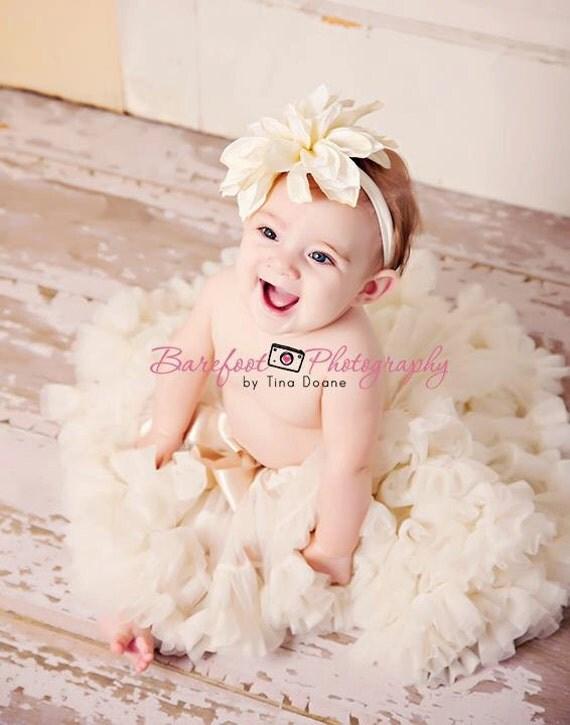 Baby headband, flower girl hair accessories, flower headband, ivory headband, lavander headband