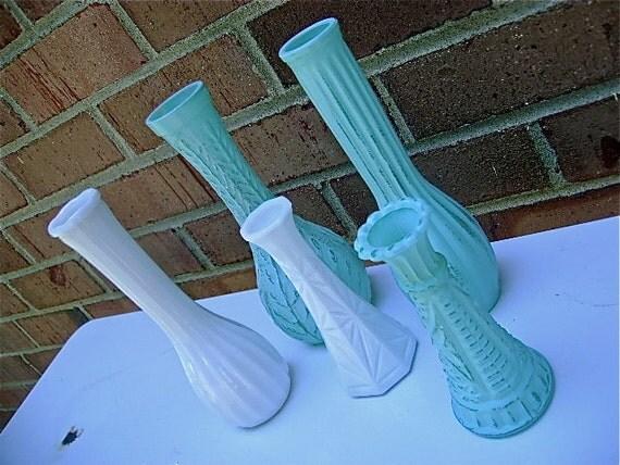 Retro Beach Bungalow Style Bud Vases