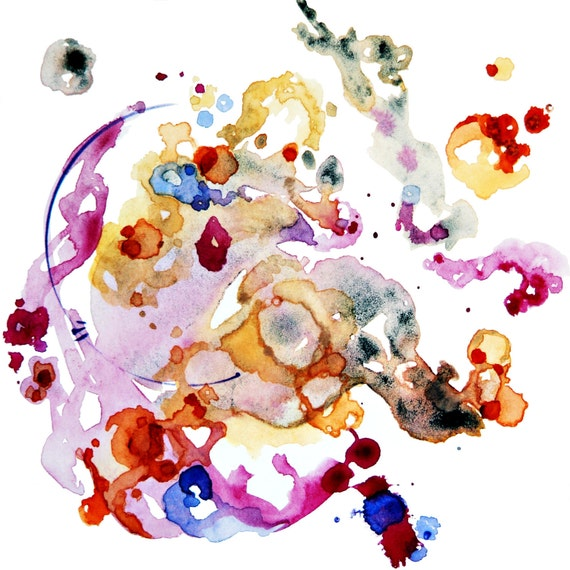 Watercolor, Watercolor Painting, Watercolor Abstract, Lavender Art, Boho Art, Pastel, Painting, Original Painting