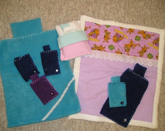 Sleeping Bags, Bed, Quilt for Dolls or Stuffed Animals