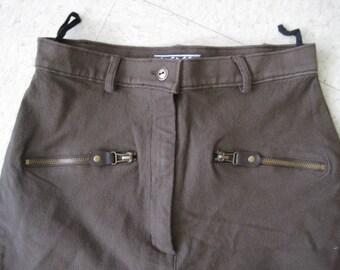 vintage women's brown JODHPHUR style pants  HIGHWAIST S