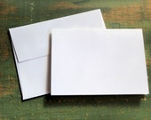 "25 A2 Folded Cards & Envelopes: 4 1/4 x 5 1/2"" (108x140mm) folded card with envelope, white, bright white, natural white or ivory (80-110lb)"