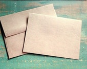 "25 4""x6"" Folded Cards & Envelopes: 4x6 (102x155mm) Blank photo cards, eco-friendly, recycled, kraft or light brown 65lb, 80lb, 100lb, 105lb"