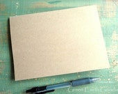 """25 A7 Blank Cards: Folded Kraft Cards, Rustic Cards, Recycled, 5 1/8"""" x 7"""" or 5x7, kraft brown or light brown, 80lb., 100lb.,  or 105lb."""