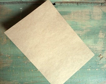"100 A7 FLAT Cards: Rustic Flat Cards, Kraft or Light Brown, Recycled, 5 1/8 x 7"" (130x178mm) or 5x7"", 65lb, 80lb, 100lb, 105lb, or 146lb"