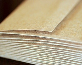 "25 A2 Kraft Envelopes: kraft brown envelopes, grocery bag envelopes, A2 envelopes, rustic eco-friendly recycled, 4 3/8"" x 5 3/4"" (111x146mm)"