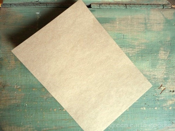 "25 A7 FLAT Cards: Rustic flat cards, kraft brown or light brown, 5 1/8 x 7"" (130x178mm) or 5x7, eco-friendly, 65lb, 80lb, 100lb or 105lb"