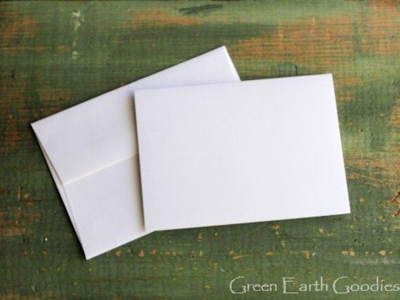 """25 A1 Folded Cards & Envelopes: 3 1/2""""x4 7/8"""" (89x124 mm) white, ivory, mix-n-match, photo mount cards, eco-friendly 80lb-110lb (218-298gsm)"""