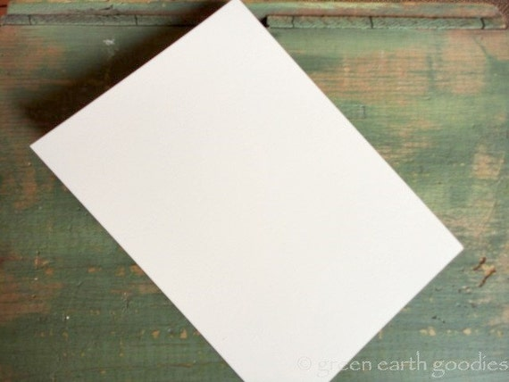 """50 A6 Flat Cards: Recycled 4 5/8 x 6 1/4"""" (117x159mm) or 4x6"""" postcard, white, bright white, natural white or ivory, 80-110lb (218-298gsm)"""
