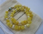 Baltic Amber Necklace with White Pearls, Child Length 35-37cm, light milky golden amber, Birthstone for June, Amber Nurture, Unique Design.