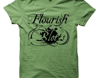 Flourish And Blotts T-Shirt of Diagon Alley - Harry Potter T-Shirt (Mens, Ladies, Kids)
