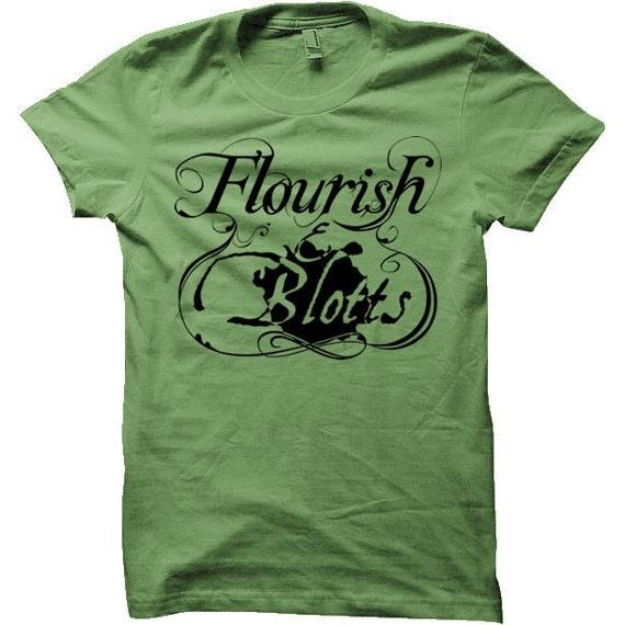 Flourish And Blotts Harry Potter T-Shirt (Mens, Ladies, Kids)