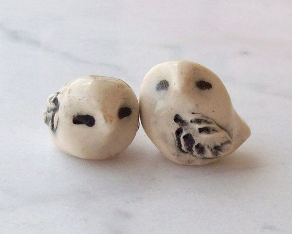 Snowy Owl Handmade Miniature Terrarium Figurines